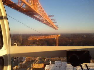 view from tower crane