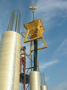 suspended concrete bucket