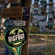 Bigfoot Sign in Sign Post Forest