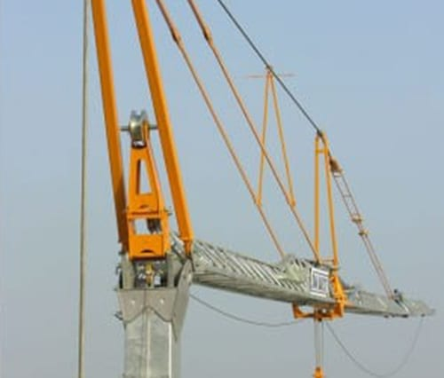 Image of tower crane lifting things.
